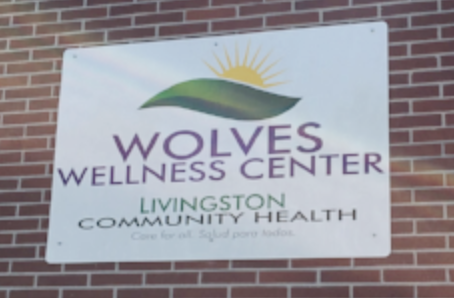 Image: Wolves Wellness Center Sign