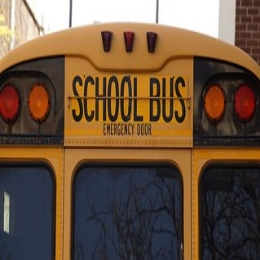 Image: back of a school bus