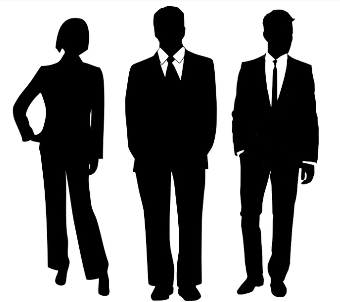 Image: three shadow figures of professionally dressed people