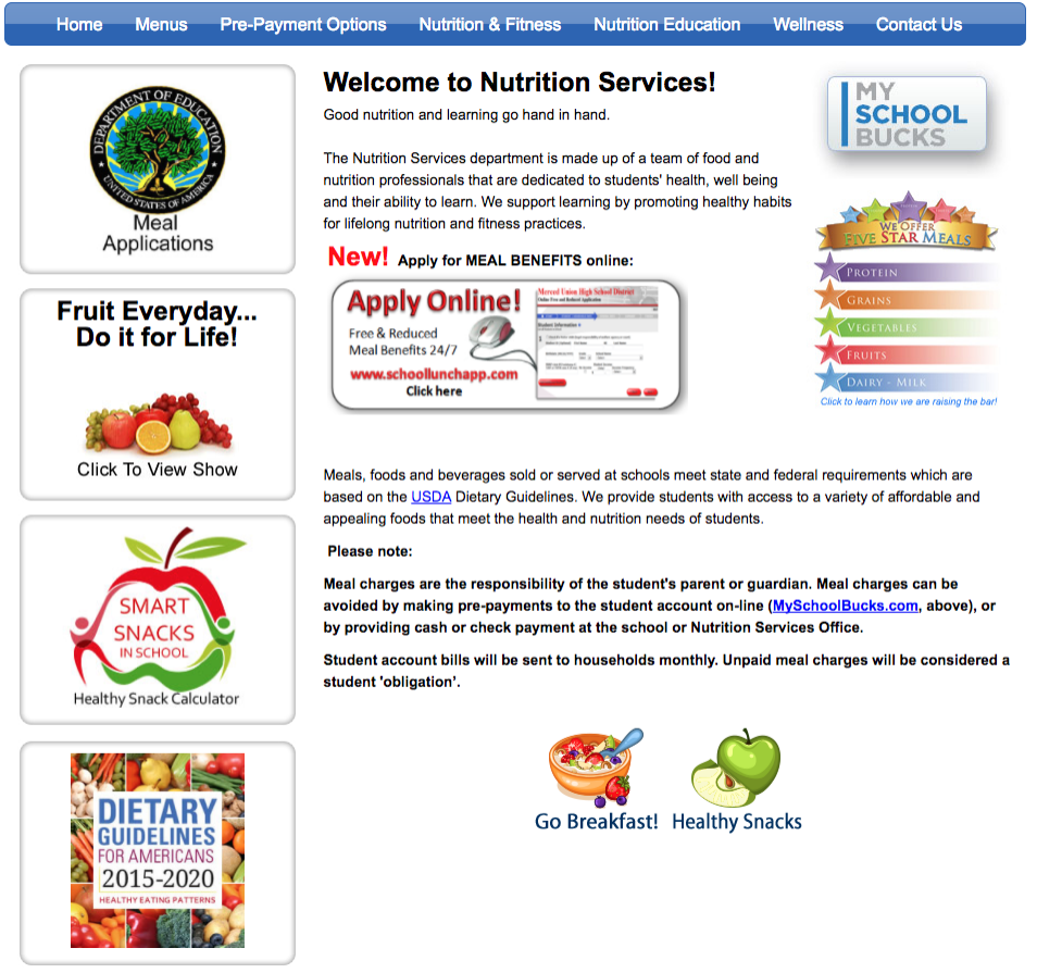 Background image: MUHSD Nutrition Services third-party external website